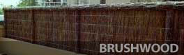 brush fencing panels