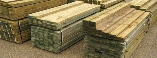 dressed treated timber