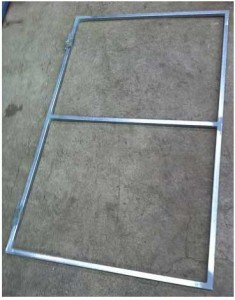 Single galvanised gate frame